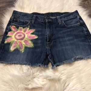 Lucky Brand 361 Vintage Painted Cut Off Shorts
